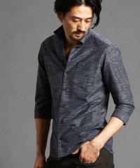 イタリアンカラー七分袖シャツ