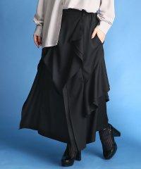 『kOhAKUモードデザイン変形ロングスカート』