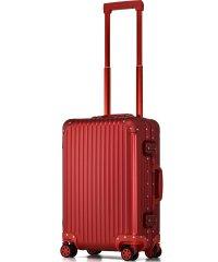 【PROEVO】 スーツケース アルミマグネシウム合金 S 小型 アルミニウムボディ キャリーバッグ キャリーケース 8輪 ストッパー 予備キャスター付属