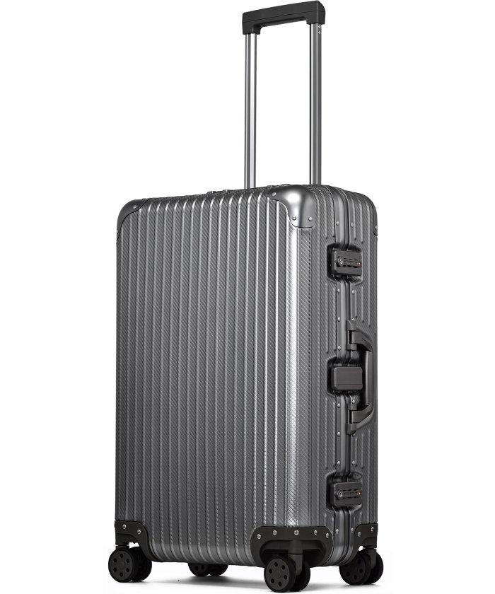 (tavivako/タビバコ)【PROEVO】 スーツケース アルミマグネシウム合金 M 中型 アルミニウムボディ キャリーバッグ キャリーケース 8輪 ストッパー 予備キャスター付属/ユニセックス ガンメタリック系1