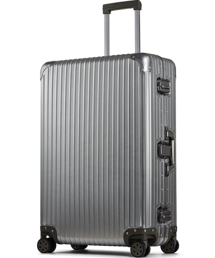 (tavivako/タビバコ)【PROEVO】 スーツケース アルミマグネシウム合金 L 大型 アルミニウムボディ キャリーバッグ キャリーケース 8輪 ストッパー 予備キャスター付属/ユニセックス ガンメタリック系1