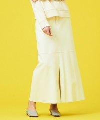 ホワイトシープレザー 5ポケットロングスカート