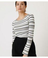 RIB BORDER KNIT TOPS