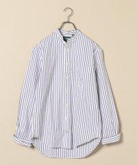GITMAN VINTAGE: 別注 ストライプ バンドカラー シャツ