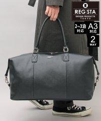 【REGiSTA/レジスタ】大容量サフィアーノPUレザービッグボストンバッグ/旅行バッグ