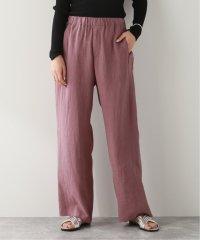 【QUWAGI/クワギ】LINEN SIDE STRIPE PANTS:パンツ