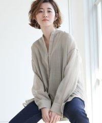 【WEB限定】シアーバンドカラーシャツ