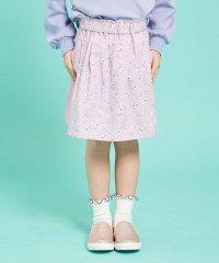 [100-130]【洗える】インナーパンツ付きギャザースカート[WEB限定サイズ]
