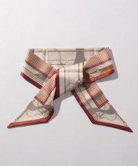 ヴィンテージ風プリント細巾スカーフ