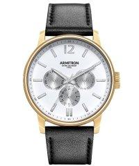 ARMITRON 腕時計 アナログ レザーウォッチ 3サブダイヤル