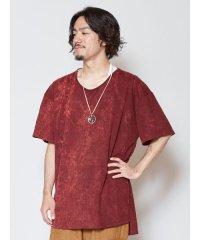 【チャイハネ】yul アシッドウォッシュメンズTシャツ TLG-0401