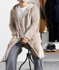 SKKONE マイクロベロア フーデット 着る毛布