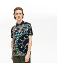 レギュラーフィット スカーフプリントポロシャツ(半袖)