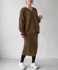 ケーブル編みセットアップ