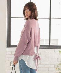 裾シャツレイヤード風ニットトップス [C4418]