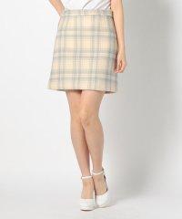 チェックミニ台形スカート
