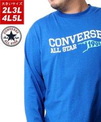 【CONVERSE】コンバース 大きいサイズ ロゴプリント 長袖Tシャツ