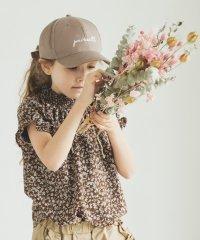 総柄 小花柄 半袖 シャーリング デザイン サマー ブラウス
