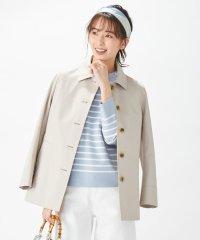 【撥水加工・花粉付着防止】80/2PIMAコットンツイルショート コート