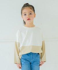 配色切り替えバックロゴTシャツ(90~150cm)