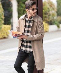 ツイルトレンチ&ステンカラーコート / スプリングコート メンズ コート トレンチ ステンカラー
