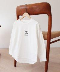 "【coen キッズ/ジュニア】USAコットン""have a good""ロングスリーブTシャツ(ロゴT/プリントT)"