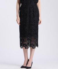 《Maglie White》ケミカルレースタイトスカート