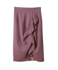 ドレープフリルタイトスカート
