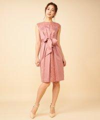 アシンメトリータックタイトドレス