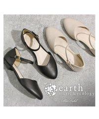 Vカットセパレートパンプス アースミュージック&エコロジー 靴 レディース ポインテッドトゥ ローヒール earth music&ecology bluelab
