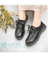 2Wayオックスフォードシューズ  アースミュージック&エコロジー 靴 レディース ドレスシューズ 厚底 ローヒール 2Way リボン 丸紐 earth mus