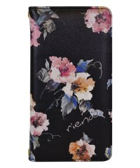 74375-1 2019 iPhone 11 rienda[プリント手帳/Parm Flower/ブラック]