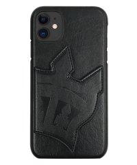 md-74457-1 iPhone 11 RODEOCROWNS [背面ケース/ビッグクラウンミラー/ブラック]