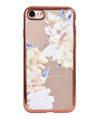 74309-1 iPhone8 rienda[メッキクリアケース/Reversi Flower/ベージュ]