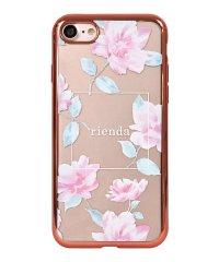 74309-2 iPhone8 rienda[メッキクリアケース/Lace Flower/ピンク]