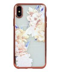 74310-1 iPhoneXS rienda[メッキクリアケース/Reversi Flower/ベージュ]