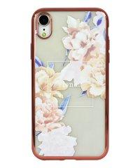74311-1 iPhoneXR rienda[メッキクリアケース/Reversi Flower/ベージュ]