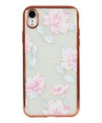 74311-2 iPhoneXR rienda[メッキクリアケース/Lace Flower/ピンク]