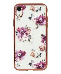 74311-3 iPhoneXR rienda[メッキクリアケース/Brilliant Flower/バーガンディー]