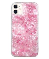 md-74509-2 iPhone 11 CECILMcBEE [ソフトシェルケース/大理石/PINK]