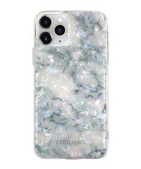 md-74511-1 iPhone 11 Pro CECILMcBEE [ソフトシェルケース/大理石/WHITE]