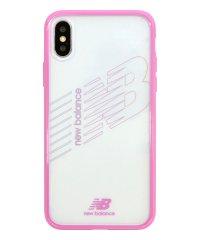 md-74260-4 iPhoneXS/X New Balance [TPU+PCハイブリッド クリアケース/ピンク]