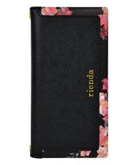 md-74273-1 iPhone8/7/6 rienda[スクエア/Emerges Flower/ブラック]手帳ケース