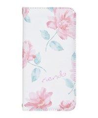 md-74272-1 iPhoneXS Max rienda[全面/Lace Flower/ホワイト]手帳ケース