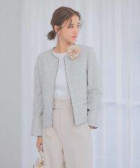 【マザーニーズ】【オケージョン】綾織りツイードジャケット
