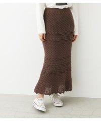 かぎ編み風ヘムフレアスカート