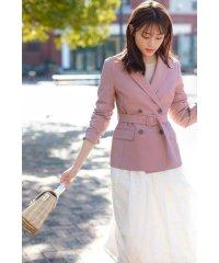 ◆べルト付きダブルジャケット