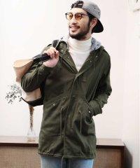 ストレッチジャーマンクロスモッズコート / モッズコート メンズ ミリタリーコート m-51 カーキ ジャケット