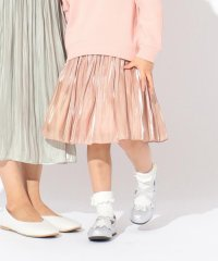 mamagirl掲載【親子でお揃い/S-M】オーロラサテンギャザースカート