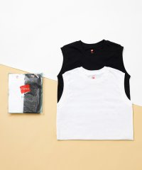 【Hanes for BIOTOP】Sleeveless T-Shirts(ホワイト×ブラック)